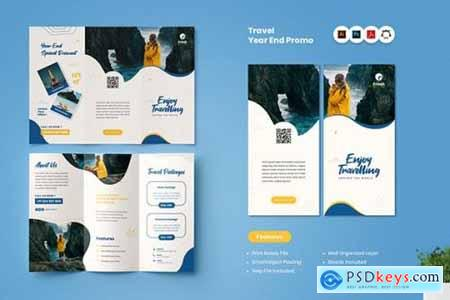 Traveling Year End Promo Trifold Brochure
