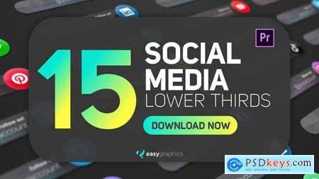 Dark Glossy Social Media Lower Thirds 29786822