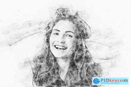 Artistic Pencil Sketch PS Action 5442874