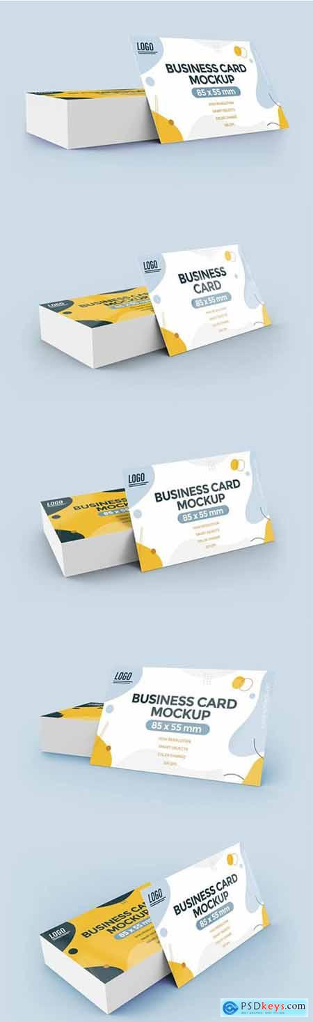 Flat business card mockup