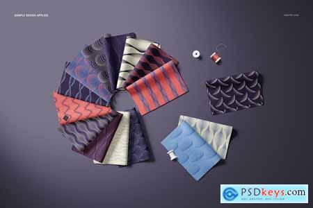 Folded Fabric Swatches Mockup Set 5459769