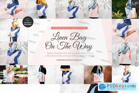 Linen Bag On The Way Mockups Bundle 5224412