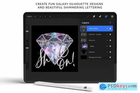 Galaxy Creator Kit for Procreate 5735662