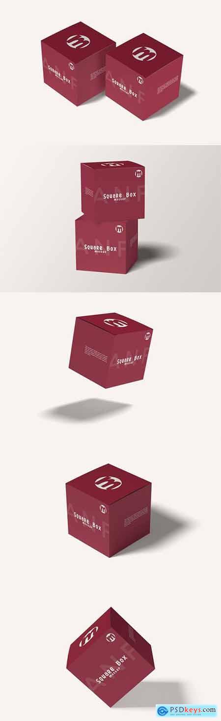 Two square box mockup