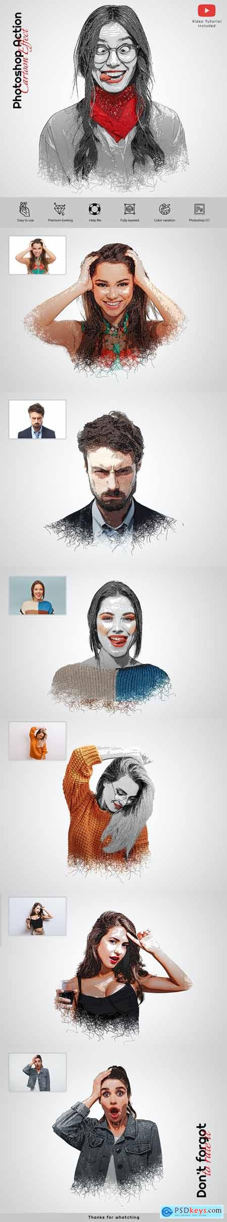 Cartoon Effects Photoshop Action 29751253