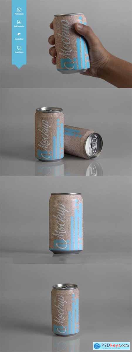 330 ml Bottle Mockup
