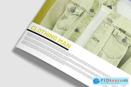 A4 Landscape Product Catalogue Brochure - Mockup