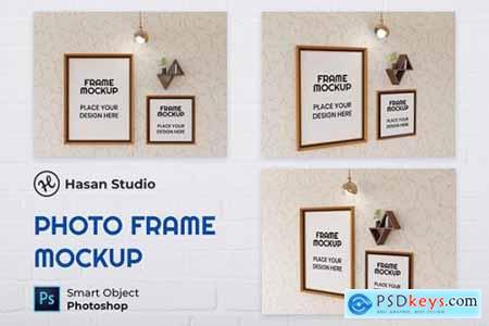 Blank Photo Frame Mockup - Nuzie ZL4SUNX