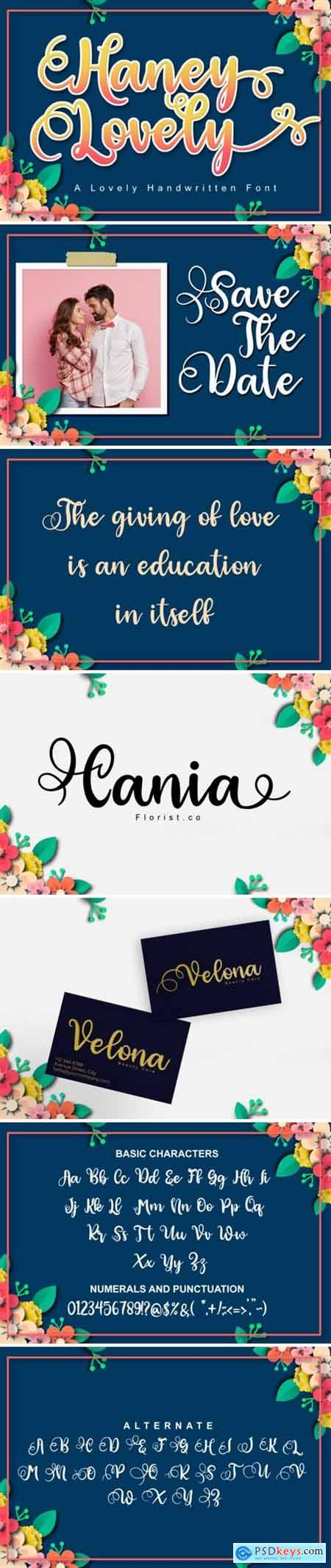 Haney Lovely Font