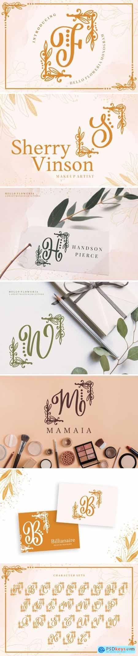 Hello Floweria Font