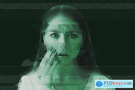 Glitch Portrait Effect PS Action 5536220