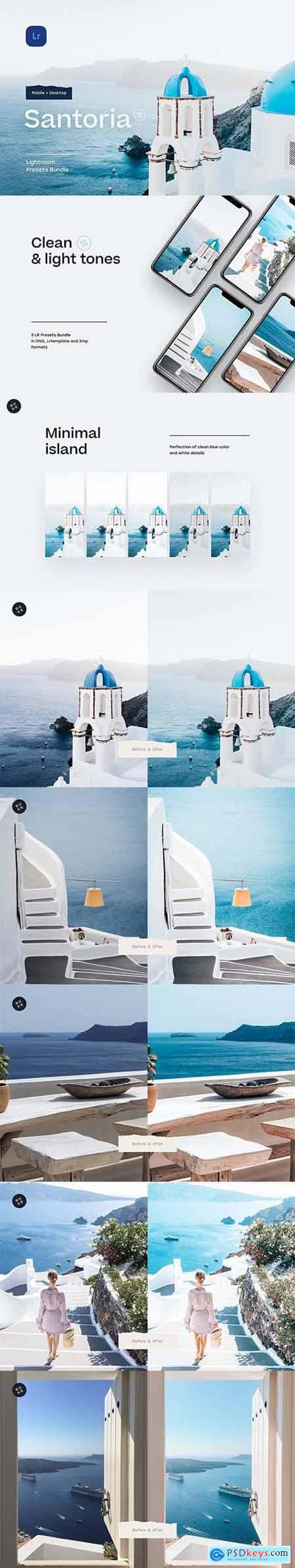 5 Santorini Lightroom Presets 5487044