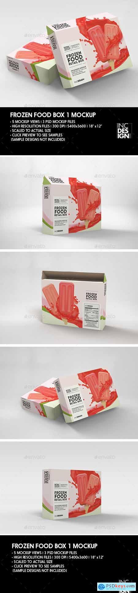 Thin Frozen Food Box Packaging Mockup 29888168