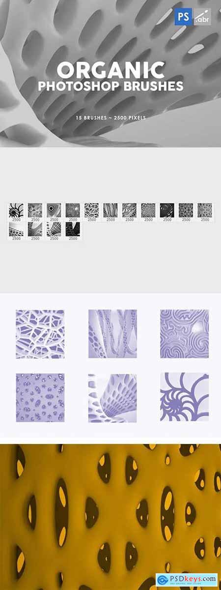 15 Organic Photoshop Stamp Brushes