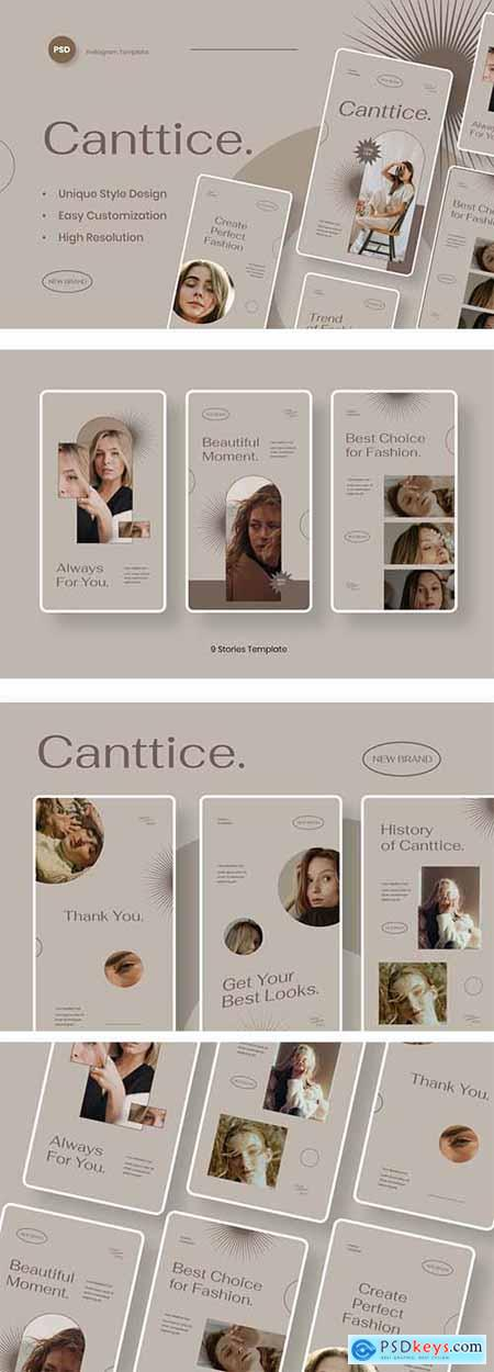Canttice - Fashion Instagram Stories Template