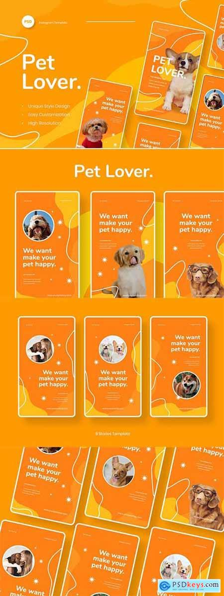 Pet Lover - Pet Animal Instagram Stories Template