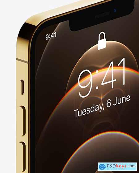 Apple iPhone 12 Pro Max Gold Mockup 72571