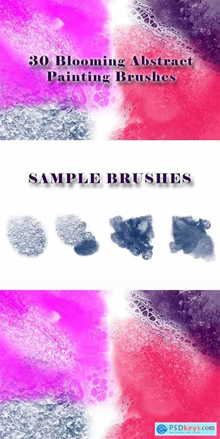 30 Blooming Abstract Painting Brushes