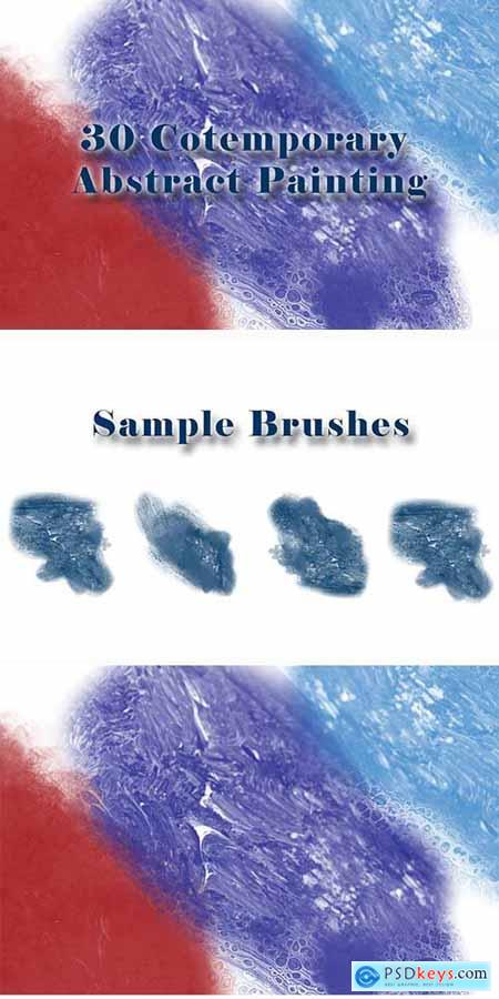 30 Cotemporary Abstract Painting Brushes