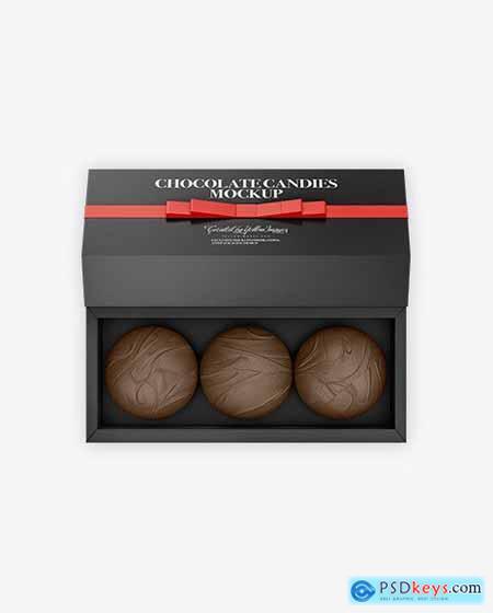 Gift Box with Chocolates Mockup 72889