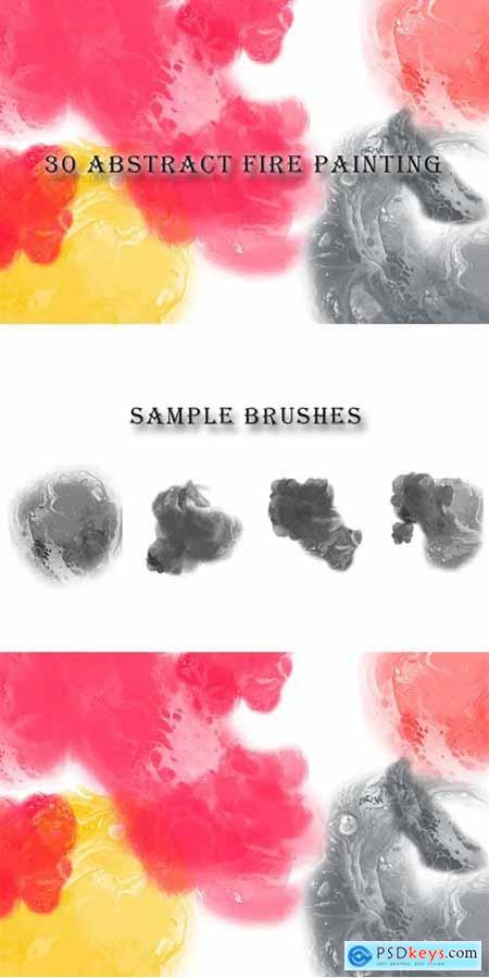30 Abstract Fire Painting Brushes