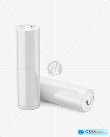 Two AA Batteries Mockup 73188