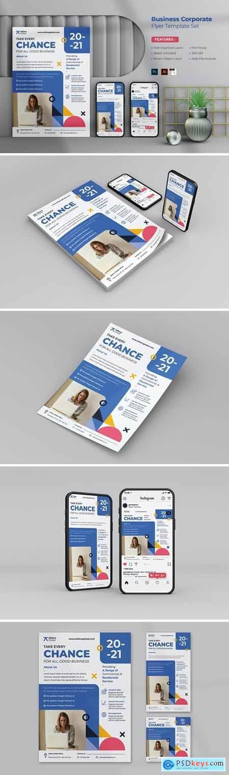 Business Corporate Flyer Set