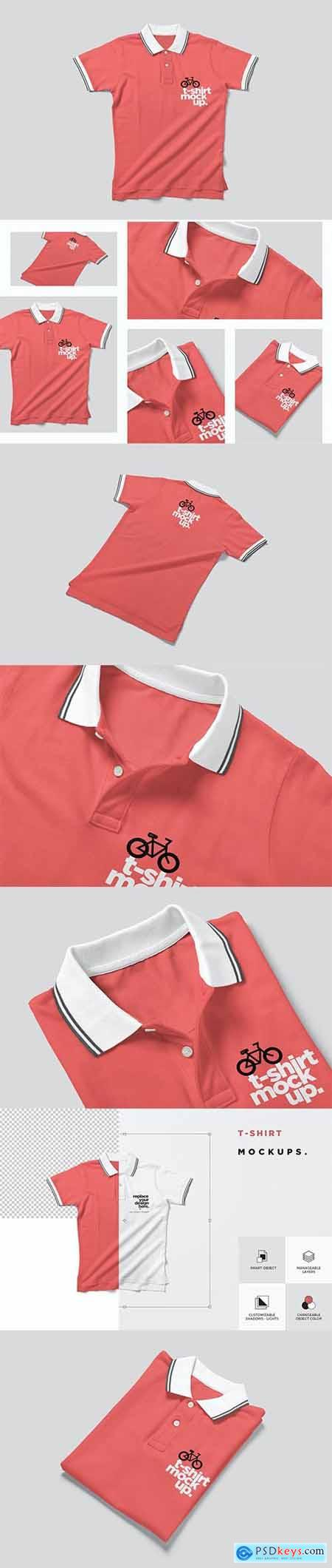 Collar T-shirt Mockups