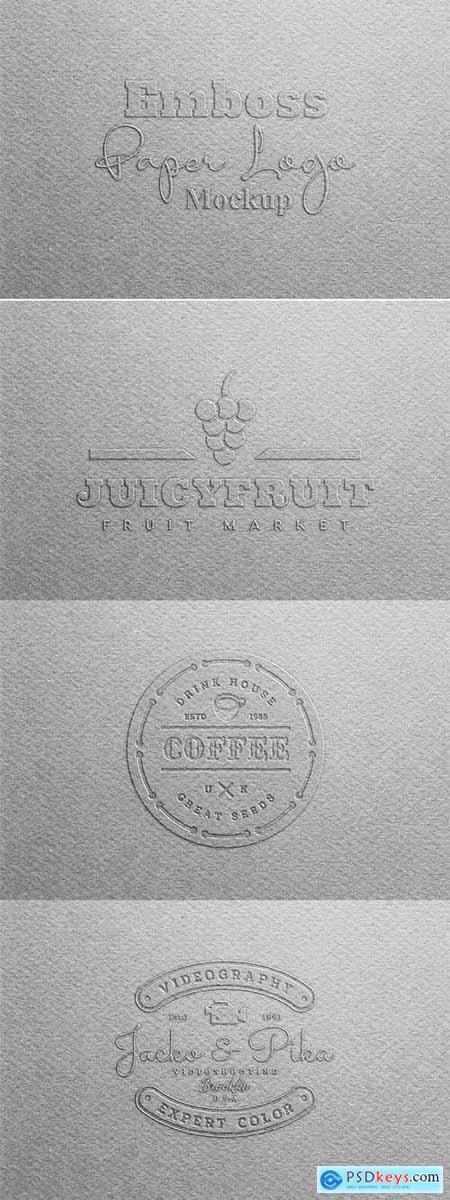 Emboss Paper Logo Mockup