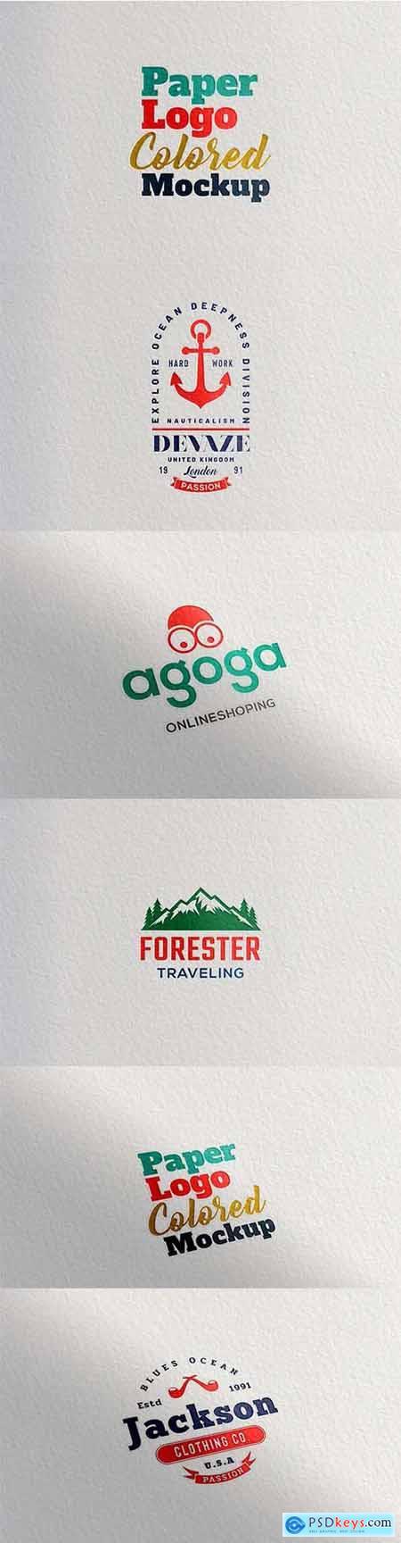 Paper Logo Colored Mockup