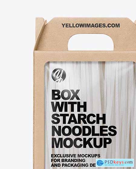 Kraft Box With Starch Noodles Mockup 73059