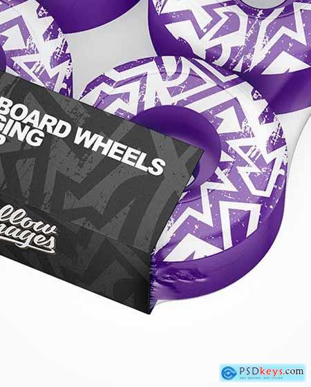 Skateboard Wheels Packaging Mockup 70443