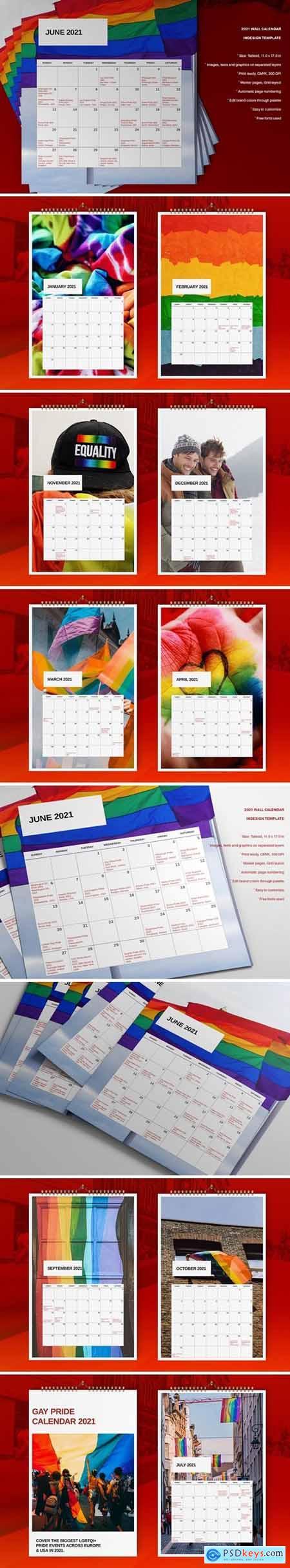 Wall Calendar 2021 Template757