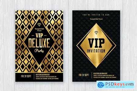 Gold Flyer Set - Gold Invitation