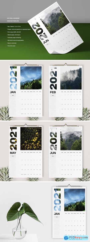 Wall Calendar 2021 Template574