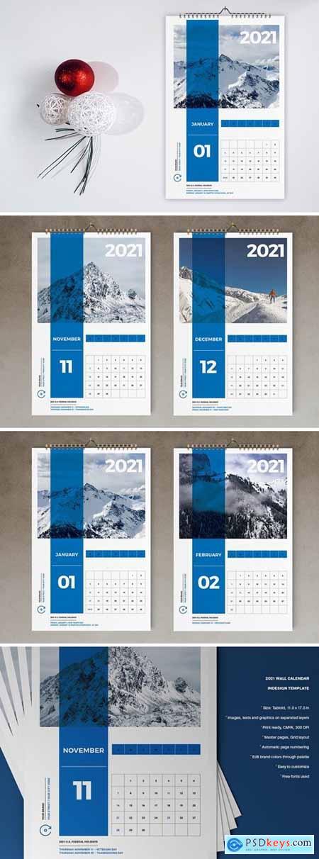 Wall Calendar 2021 Template926