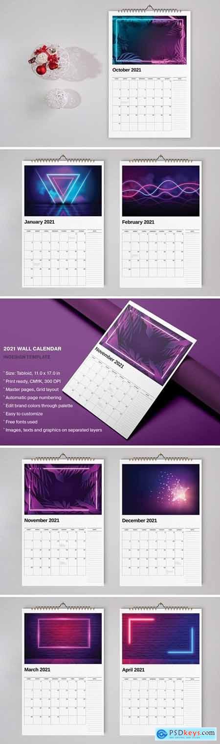 Wall Calendar 2021 Template998