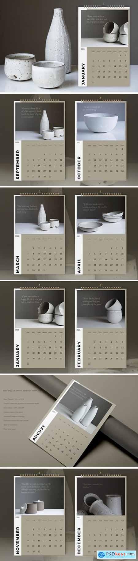 Wall Calendar 2021 Template890