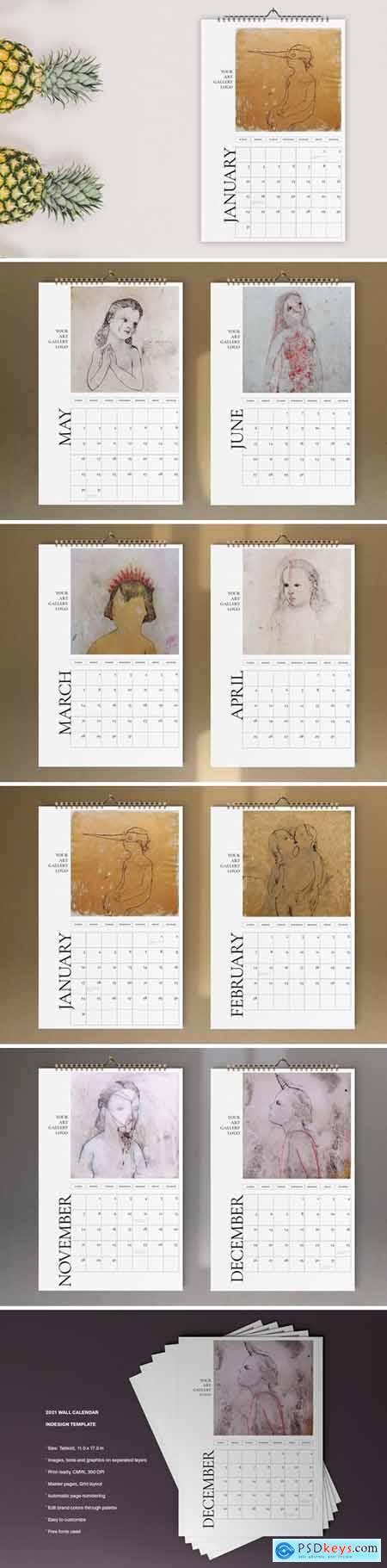 Art Calendar 2021 Template