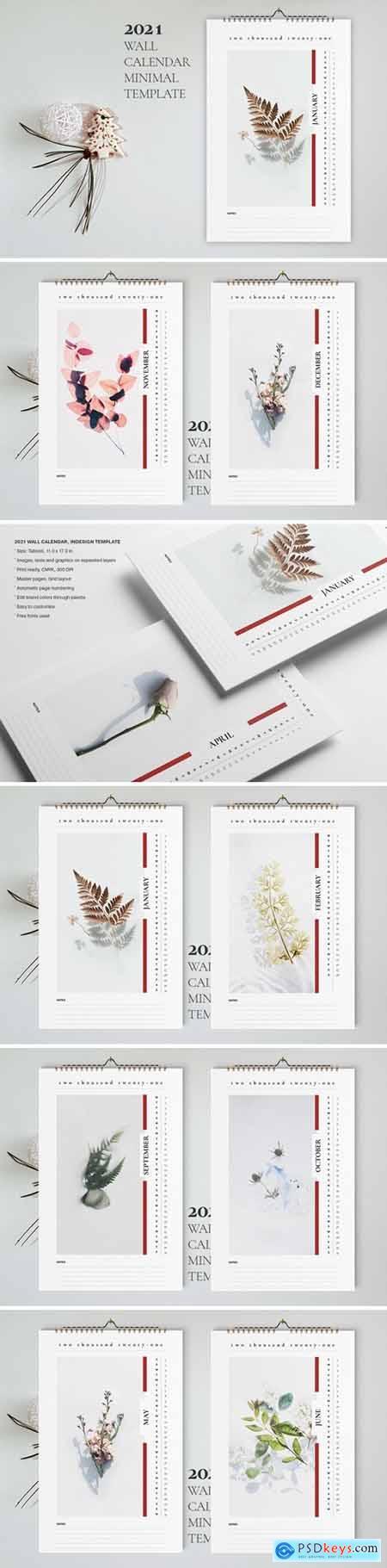 Wall Calendar 2021 Template256