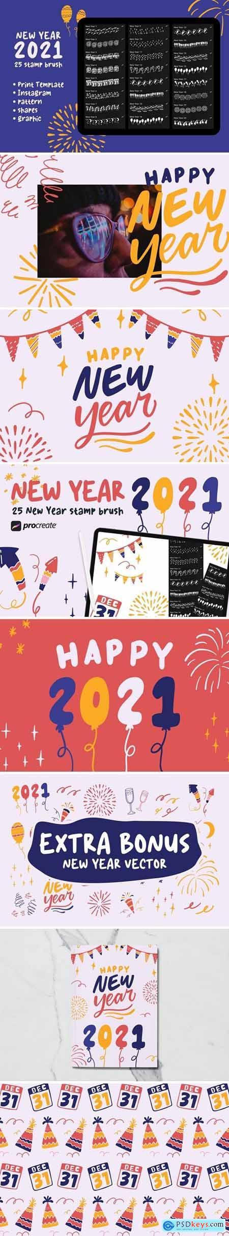 New Year 2021 - Procreate Stamp Brush