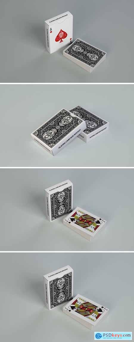 Casino Playing Cards Box Mockup