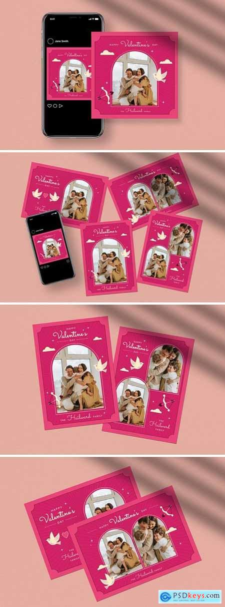 Valentine Greeting Card- Photo booth