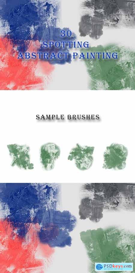 30 Spotting Abstract Painting Brushes