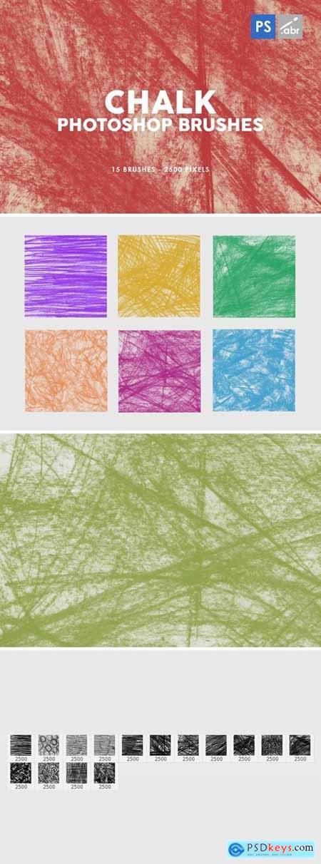 Chalk Texture Photoshop Stamp Brushes 2