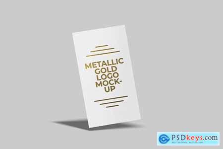 Metallic Gold Logo Mockup
