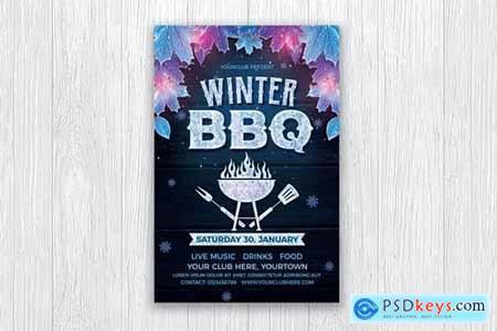 Winter BBQ Flyer