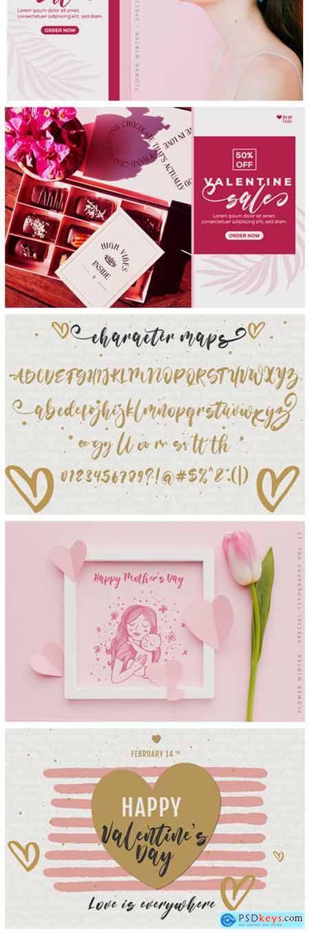 Flower Winter Font
