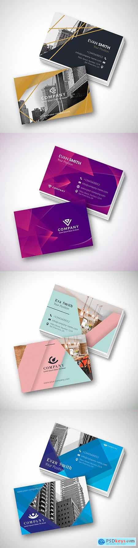 Modern template business card design with photo