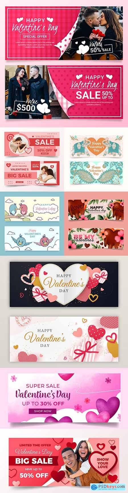 Valentines Day banner and menu design template 2